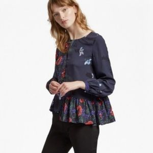 French Connection | Lisette Crepe Floral Blouse